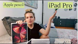Купила iPad Pro и Apple pencil - Распаковка / Не умею ждать! Хорошие и не очень новости)