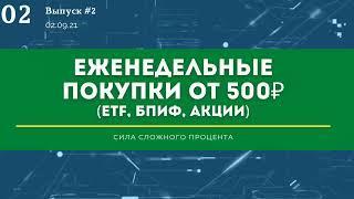 №2 Инвестиционный портфель в Тинькофф инвестиции от 500 рублей в неделю. Инвестиции с нуля.