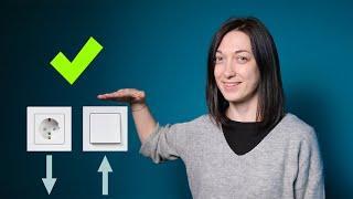 На какой высоте от пола располагать розетки и выключатели в квартире? Совет дизайнера!