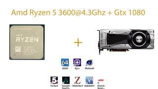 Выбор оптимального пк часть 2 -  Amd Ryzen 5 3600 + 16gb ram + gtx 1080. Тесты в синтетике + играх!