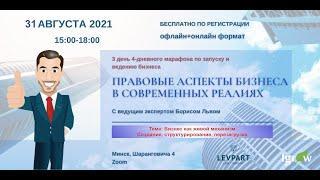 Правовые аспекты бизнеса в современных реалиях. День 3.