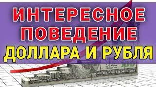 Интересное поведение доллара и рубля | Обвал рынка. Прогноз доллара. Курс доллара на сегодня