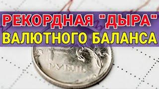 """Рекордная валютная """"дыра"""" в банках РФ. Прогноз доллара. Обзор рынков. Курс доллара на сегодня. Рубль"""