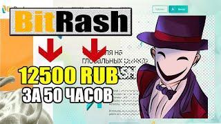 Как зарабатывать 12500 Рублей ЗА 50 ЧАСОВ / Получаю 250 рублей каждые 10 часов /bit-rash.biz - обзор