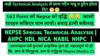 Most important Nepse Technical Analysis Bhadra 21 | Ahpc Hdl Nica Nabil Nhpc | Bipin Kandel Analysis