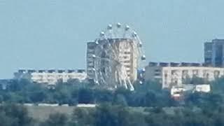 Вид на город Волжский с набережной реки Волга Спартановка Волгоград лето 2021 года